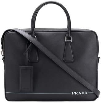 Prada classic saffiano briefcase