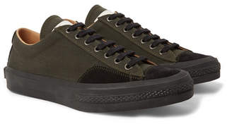 Dries Van Noten Suede-Trimmed Canvas Sneakers
