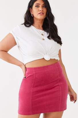 Forever 21 Plus Size Corduroy Mini Skirt
