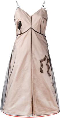 Quetsche sheer layered flared dress