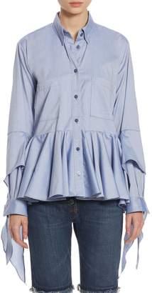 Each X Other Ruffled Cotton Poplin Shirt