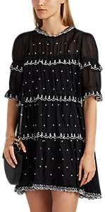 Etoile Isabel Marant Women's Lyin Embroidered Cotton Dress - Black