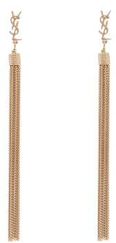Saint Laurent Lou Lou Tassel Earrings - Womens - Gold