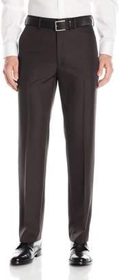 Haggar Men's Travel Performance Mini Tic Tailored Fit Flat Front Suit Separate Pant