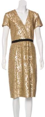 Burberry Embellished Midi Dress