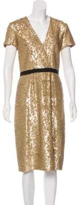 Burberry Embellished Midi Dress