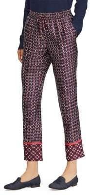 Lauren Ralph Lauren Petite Geometric Slim-Fit Pants