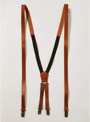 Topman Mens Brown Tan Leather Braces