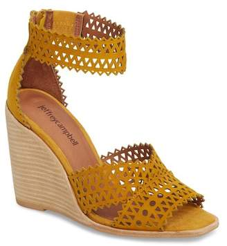 Jeffrey Campbell Besante Perforated Wedge Sandal (Women)
