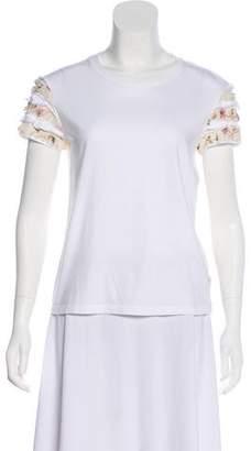 RED Valentino Silk Blend Short Sleeve Top