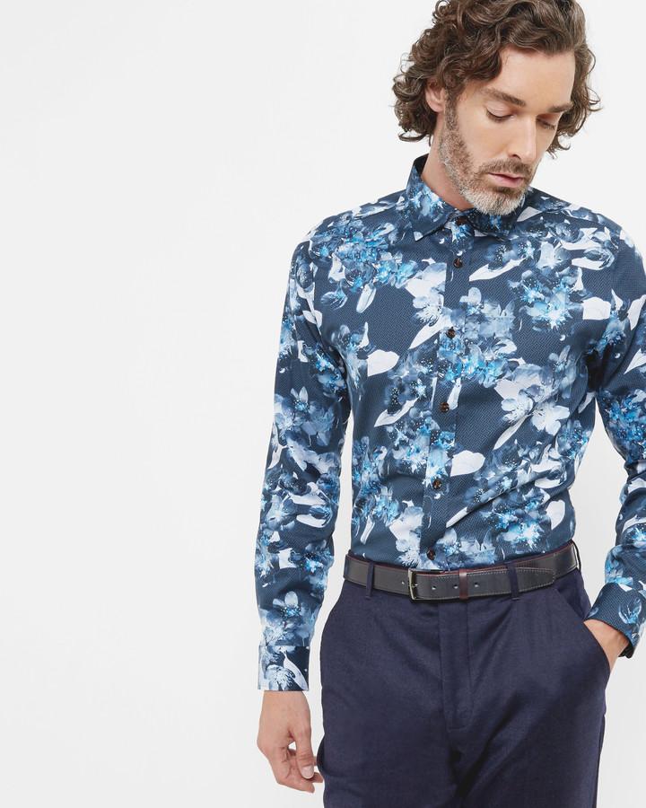 Ted baker floral print shirt men for Ted baker floral print shirt