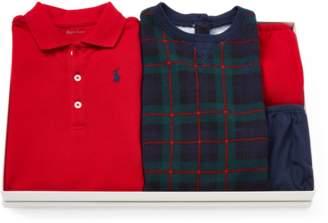 Ralph Lauren Kids Cotton Dress 2-Piece Gift Set