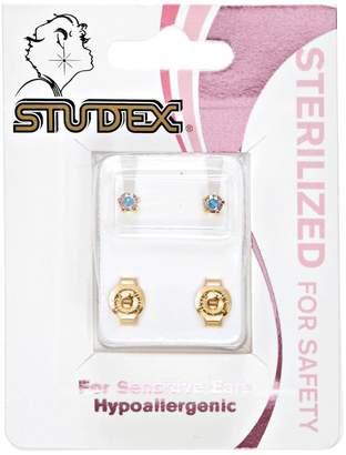 Studex Gold Plated Aurora Borealis Ear Piercing Studs