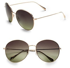 Oliver Peoples Blondell Round Metal Sunglasses
