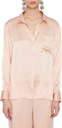 Asceno Pink Silk Pajama Top