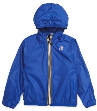 Boy's K-Way 'Claude 3.0' Hooded Waterproof Windbreaker Jacket $49 thestylecure.com