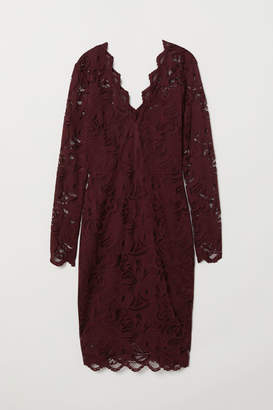 H&M Fitted Lace Dress - Red