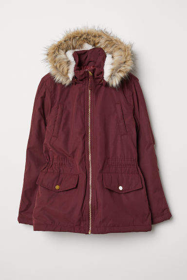 H&M - Padded Parka - Red