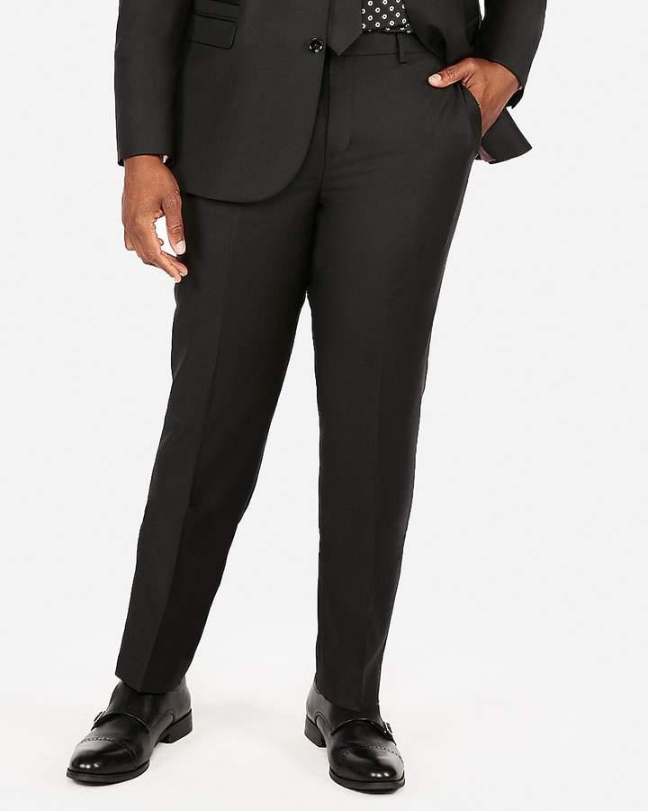 Express Slim Black Luxury 100% Wool Suit Pant