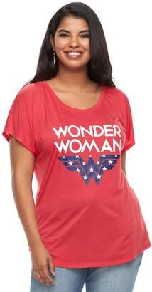 Juniors' Plus Size DC Comics Wonder Woman Americana Tee