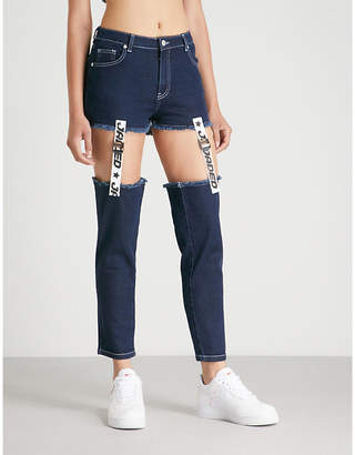 Jaded London Tape & Buckle straight high-rise jeans