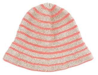 Sonia Rykiel Metallic Pattern Knit Hat