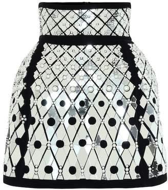 David Koma Embellished miniskirt
