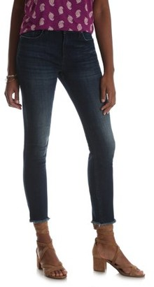 Lee Riders Women's Modern Skinny Ankle Jean with Fringe Hem