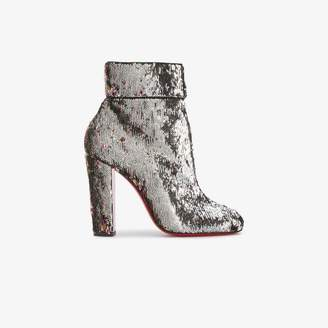 Christian Louboutin Ladies Patent Leather Moulamax 100 Sequined Ankle Boots, Size: 37