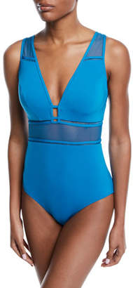 Jets Aspire Plunging Underwire One-Piece Swimsuit (D/DD Cups)