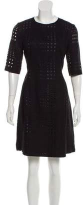 Les Copains Cut-Out Virgin Wool Dress