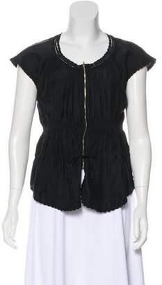 Etoile Isabel Marant Silk Shot Sleeve Top