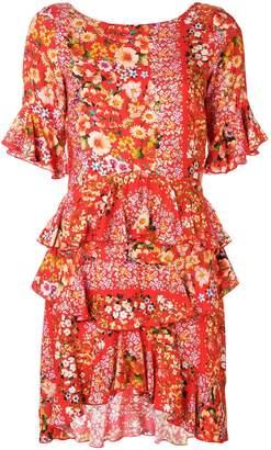 DAY Birger et Mikkelsen Black Coral floral print frill trim dress