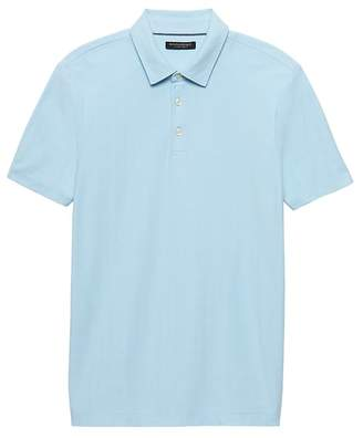Banana Republic Don't-Sweat-It Herringbone Polo