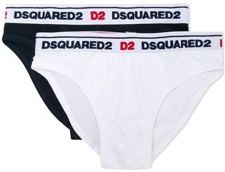 DSQUARED2 logo 2 pack briefs