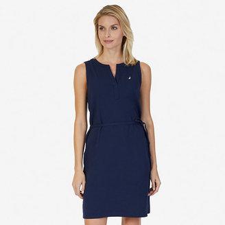 Sleeveless Split-Neck Dress $69.50 thestylecure.com