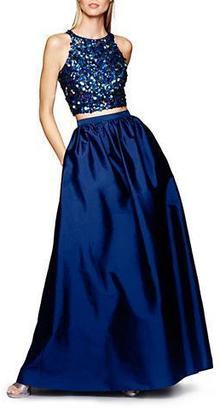 Adrianna Papell - Two-Piece Halter Neckline Long Dress 91922200 $363 thestylecure.com