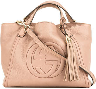 bce9118a37cb9e Gucci Pink Calfskin Leather Small Soho Hobo Bag