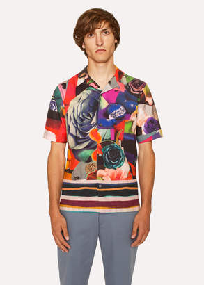 Paul Smith Men's Tailored-Fit 'Rose Collage' Print Short-Sleeve Shirt