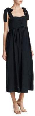 See by Chloe Tie Shoulder Maxi Dress