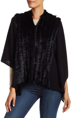 In Cashmere Genuine Rabbit Fur Wool Blend Cape $248 thestylecure.com