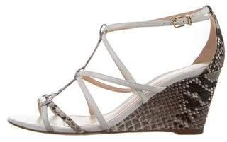 Alexandre BirmanAlexandre Birman Snakeskin Cage Sandals