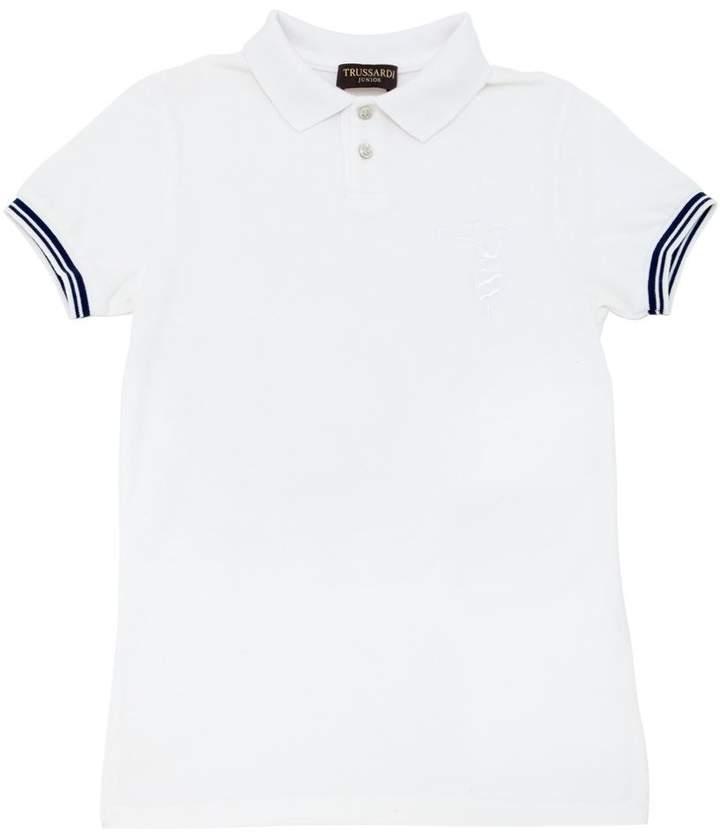 Trussardi Junior Cotton Piqué Polo Shirt