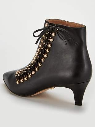 f0ba62b73688 Kurt Geiger London LONDON Eyelet Kitten Heel Ankle Boots - Black