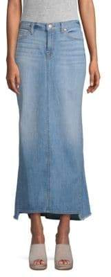 7 For All Mankind Denim Maxi Skirt