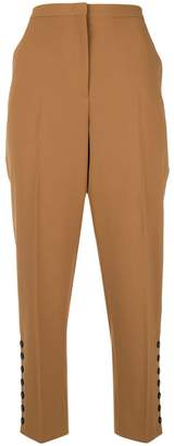 No.21 cropped high-waist trousers