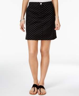 Karen Scott Dot-Print A-Line Skort, Created for Macy's