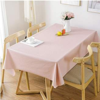 HM&DX PVC Tablecloth Waterproof Oil-Free Stain Resistant Table Cover Protector Solid Color Minimalist Coffee Dining Table Covering