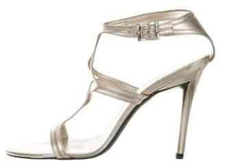 Rene Caovilla Metallic Ankle Strap Sandals
