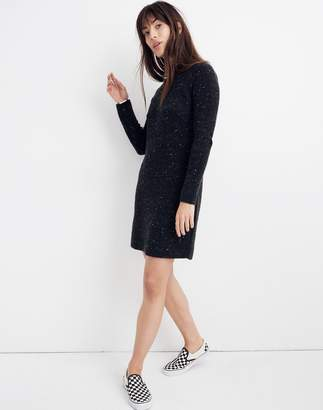 Madewell Donegal Northfield Mockneck Sweater-Dress in Coziest Yarn